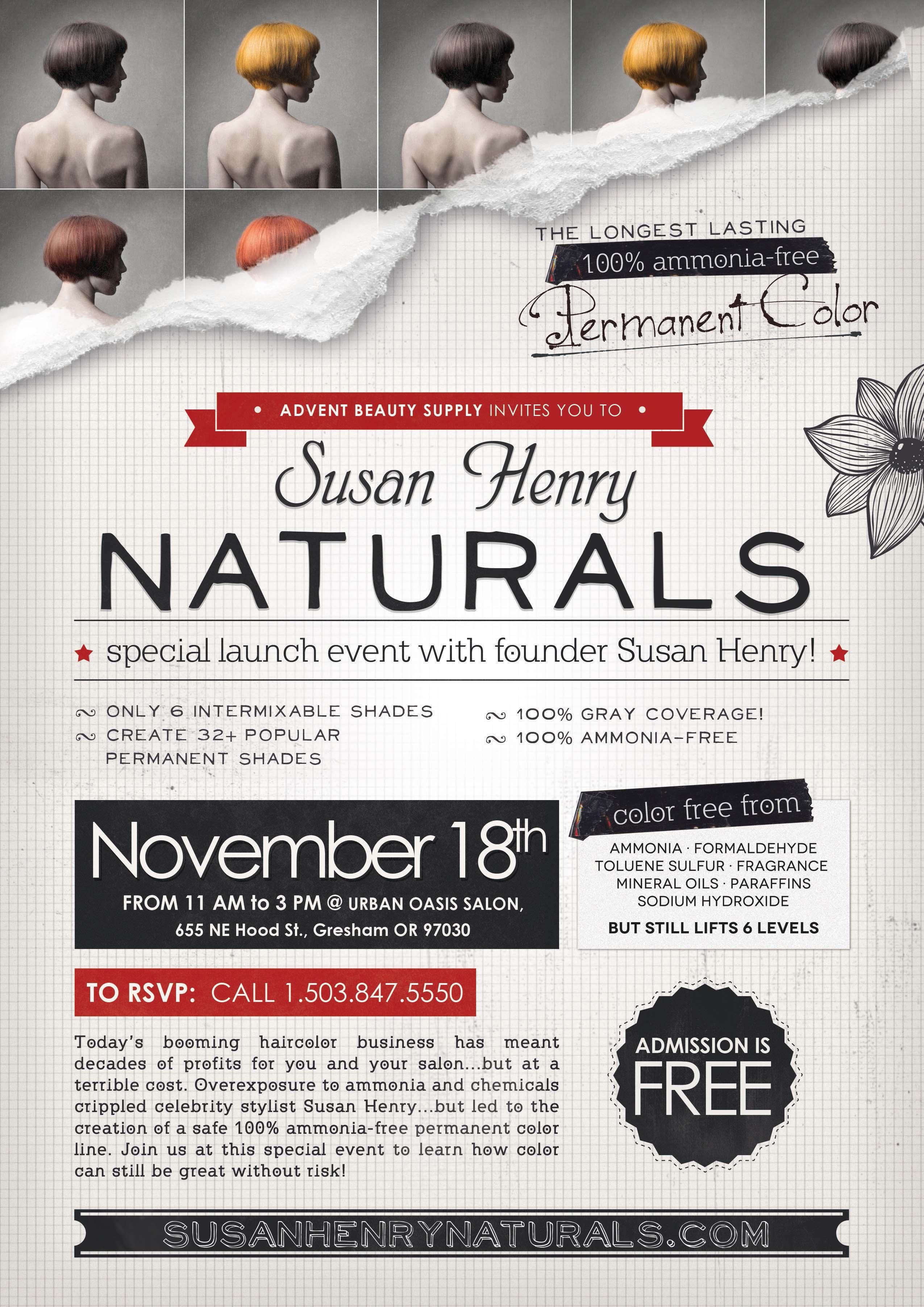 Susan Henry Naturals Class Flyer